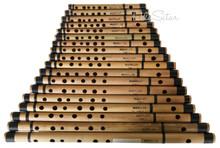 MAHARAJA Set of 18 Pcs Basic Bansuri - Indian Bamboo Flute Set - (BR-ABE)