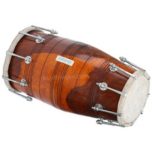 MAHARAJA Professional Dholak (Dholki), Shesham Wood, Bolt-tuned, With Tuning Spanner, Bag  - (BR-ABI)