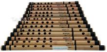 MAHARAJA Set of 13 Pcs Basic Bansuri - Indian Bamboo Flute Set - (BR-ADJ)