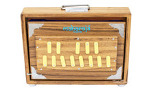 MAHARAJA Shruti Box, Teak Wood - 13 Notes - Sur Peti - (BR-ABC)