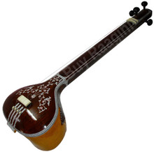 MAHARAJA Tanpura, Male, 4 Strings, Fiber Trolly (Miraj Tambura) - (BR-ABB)
