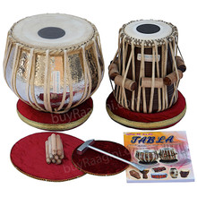 MAHARAJA Concert Extra Heavy Copper Tabla Drum Set, 5.5 Kg Copper Bayan, Finest Dayan, Padded Bag, Book, Hammer, Cushions & Cover - (BR-AAD)