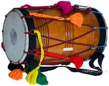 MAHARAJA Punjab Bhangra Dhol, Natural Color, Mango Wood - GE