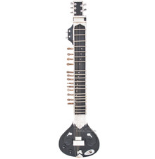 MAHARAJA Electric Sitar, Single Flat Tumba, Kharaj Pancham, Black Color - (BR-IA)