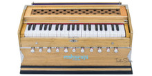 MAHARAJA Harmonium, 11 Stop, A440, 42 Keys, Natural Color, Coupler AAE