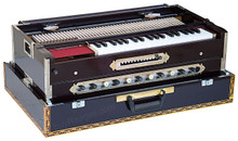 Paul & Co. Harmonium, Teak Wood 4 Reeds - BMMF, 13 Scales, 11 Stop, Coupler Function, Dark Mahogany (BR-FBD)