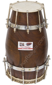 VHATKAR Sheesham wood Natural Dholak