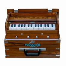 MAHARAJA Harmonium, Kirtan Harmonium, Portable In-Flight Edition, 9 Stop, Natural Color, A440, 32 Keys, Coupler, Model KH2