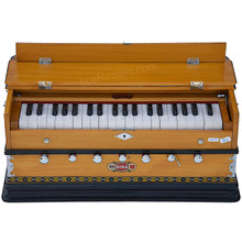 BINA™ NO. 8A Harmonium, 2 Reeds, 3 1/4 Octaves, 7 Stops, Coupler, Natural Color - (BR-DJF)
