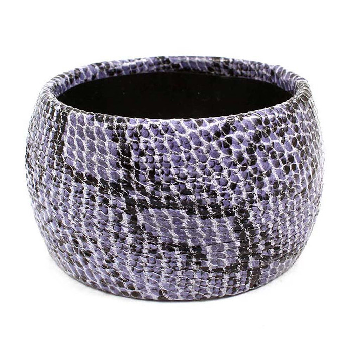 purple faux snakeskin bangle