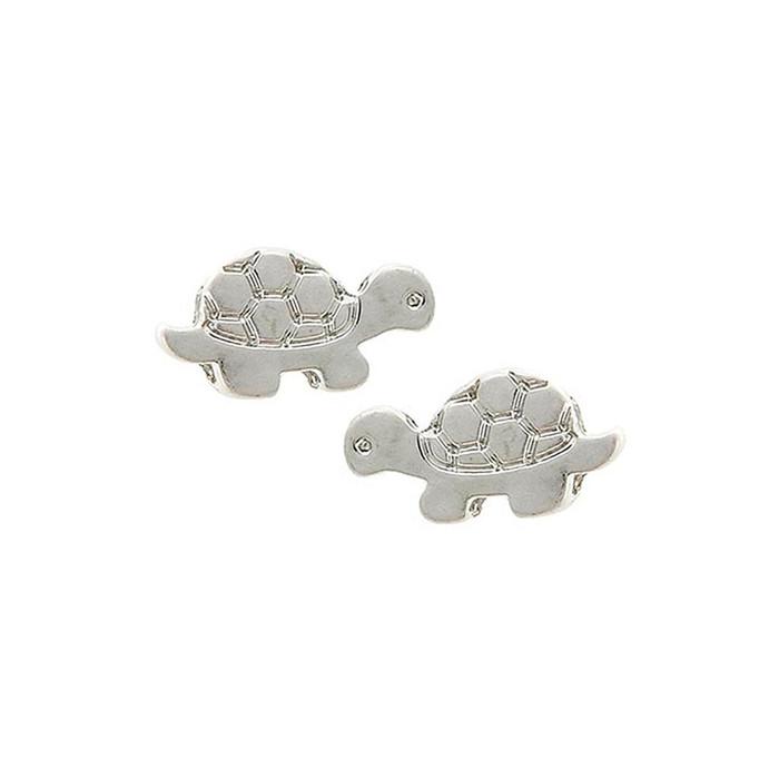 mini silver tortoise/turtle post earrings
