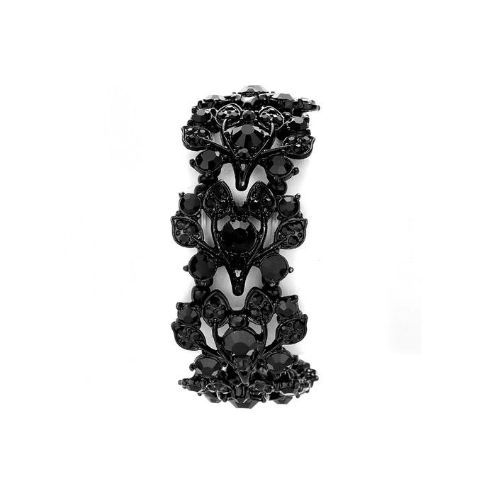 stunning black-on-black crystal bracelet
