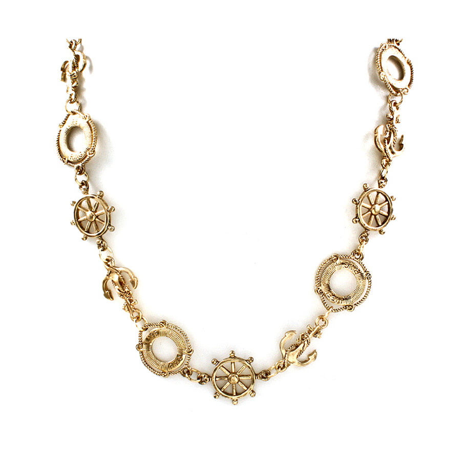 golden nautical necklace