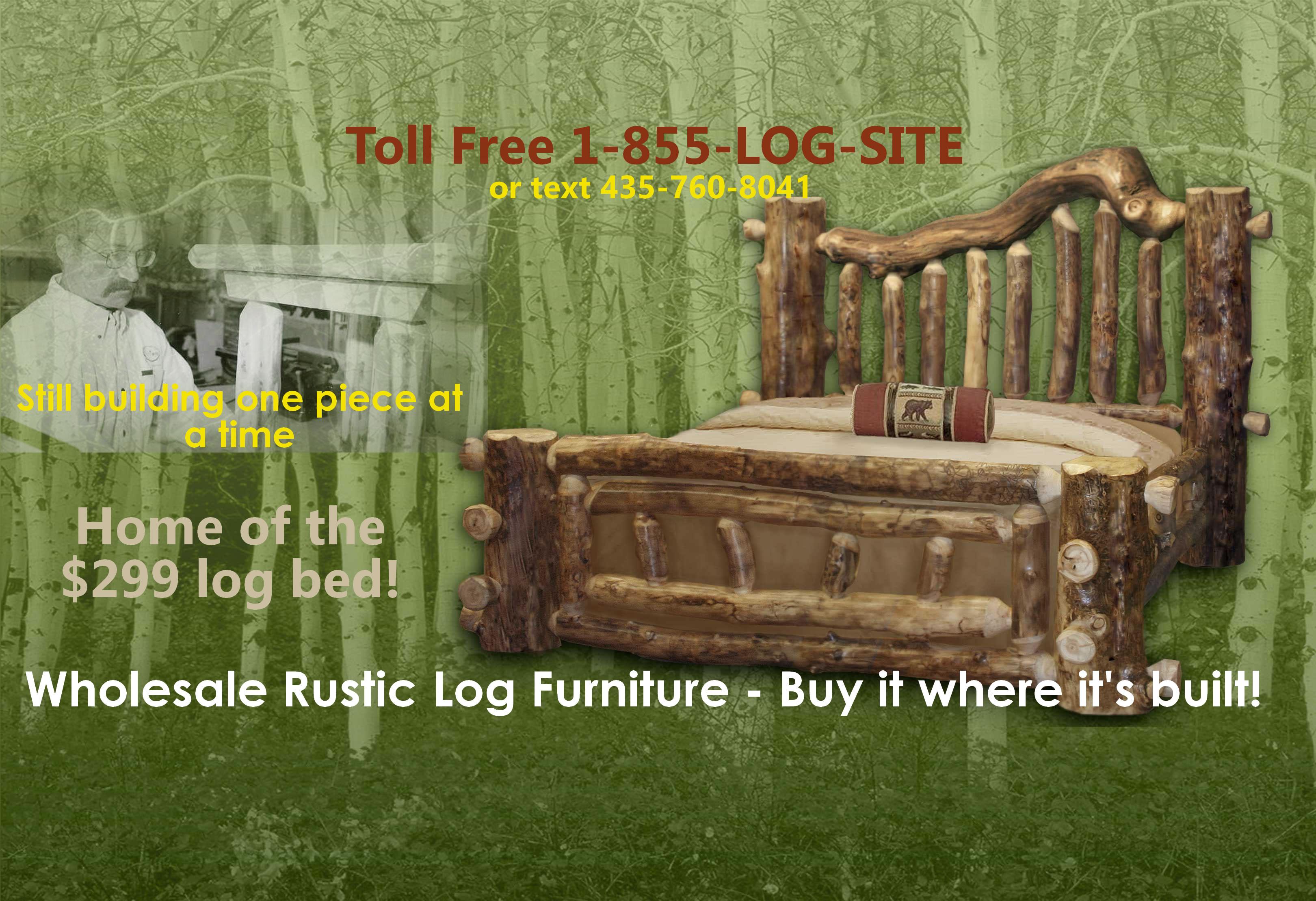 Log FurnitureRustic Log BedsNationwide WholesaleCabin Commercial
