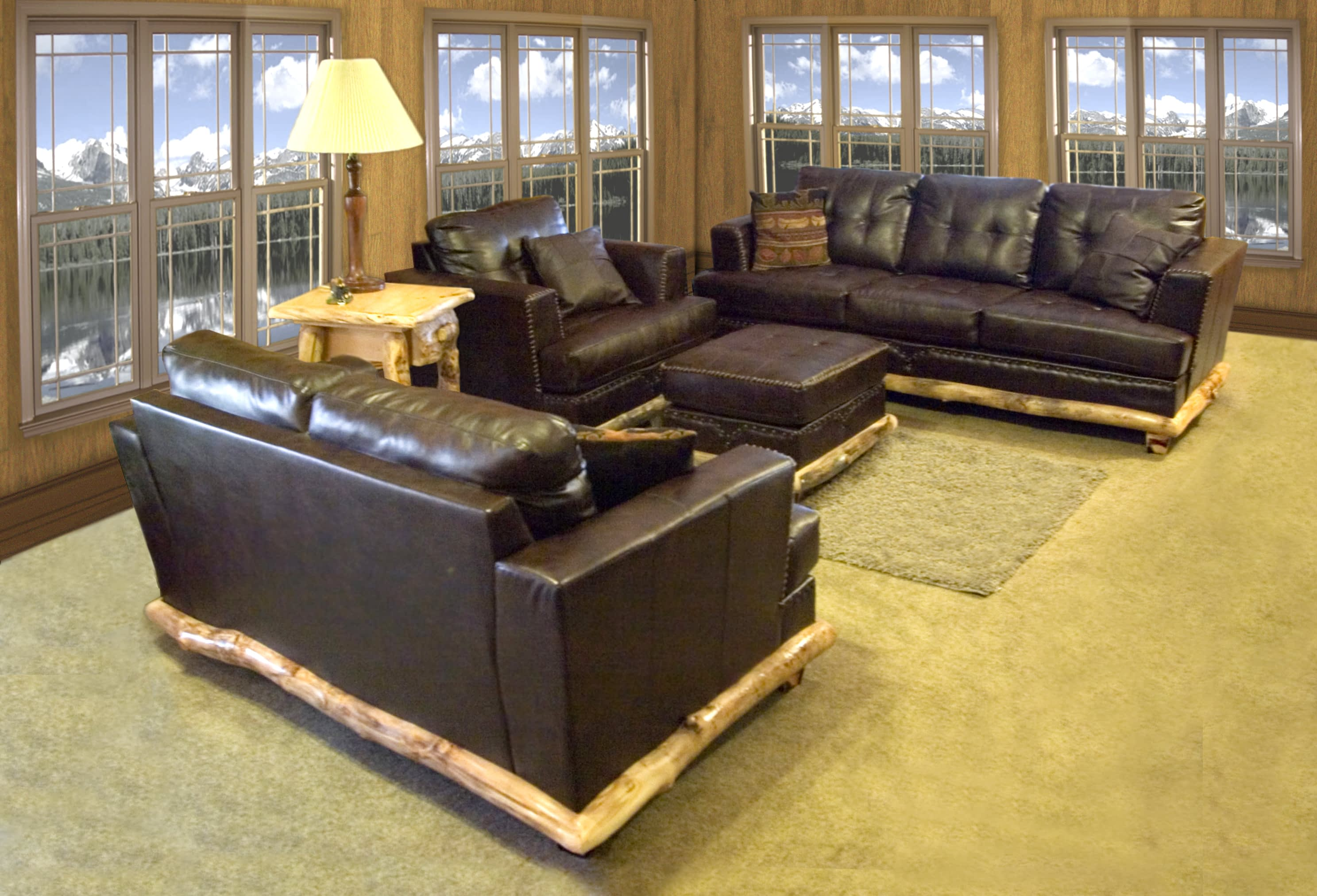 Log Couch Set A2211