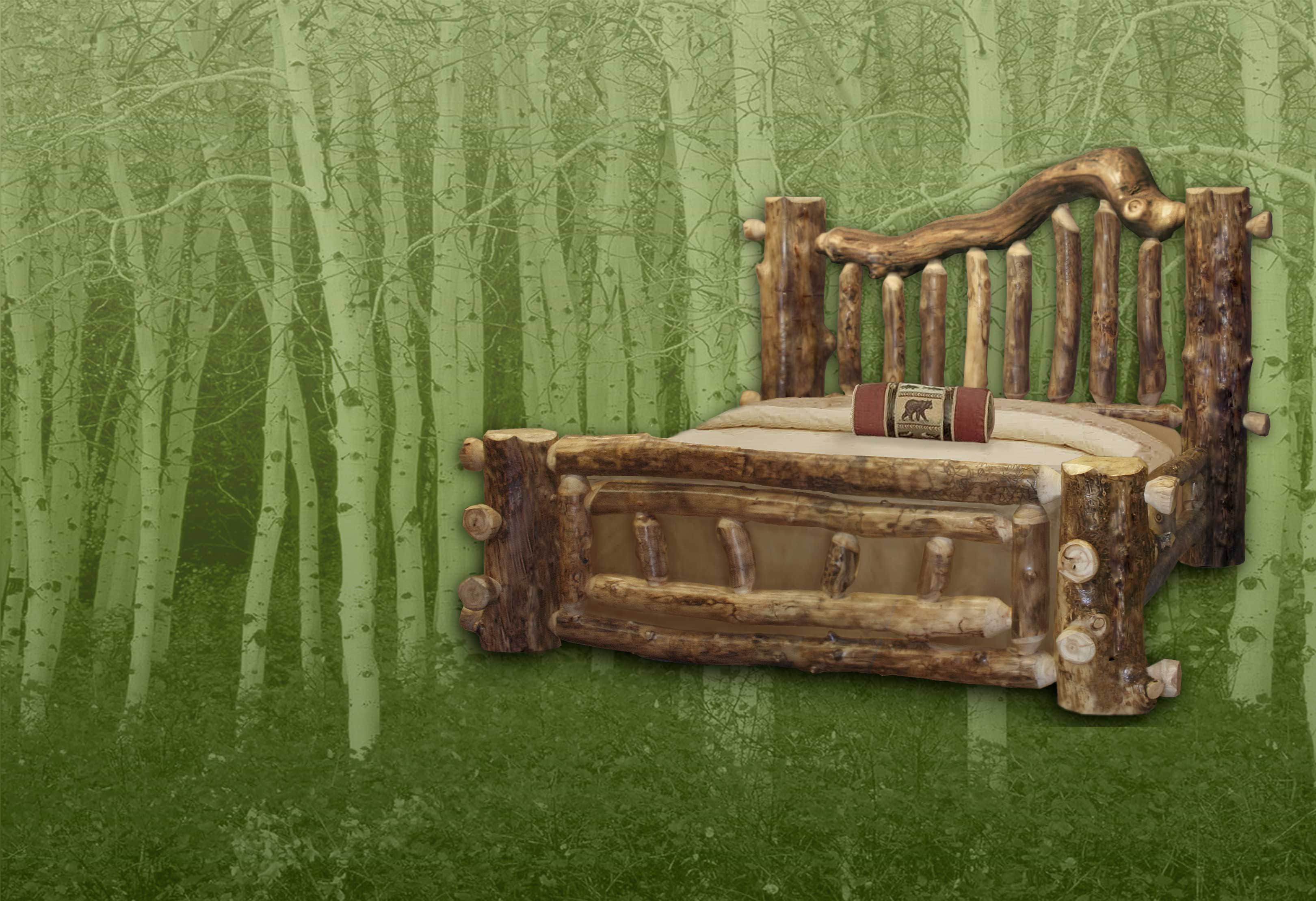 Majestic Aspen Log Bed 1105