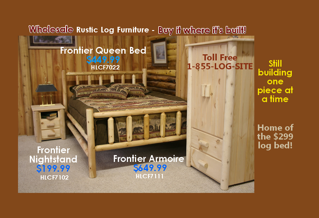 Log Furniture Rustic Log Beds Nationwide Wholesale Cabin Commercial
