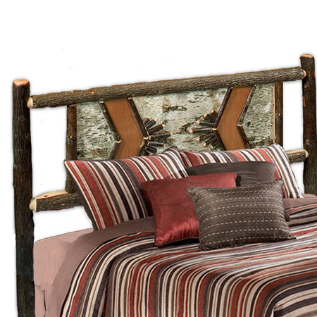FL80112 Hickory Adirondack Traditional - Headboard