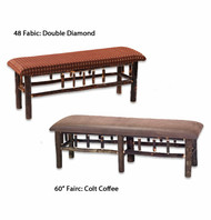 FL85540 Hickory Bench with Upholstered Seat