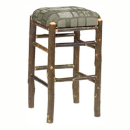 FL86520 Hickory Backless Barstool w/Upholstered Seat