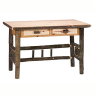 FL87400 Hickory Writing Desk with 2 Drawers