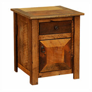 FLB11041 Barnwood Enclosed Nightstand
