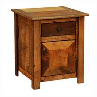 FLB11041 Barnwood Enclosed Nightstand