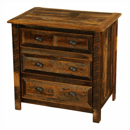 FLB12011-P Barnwood Three Drawer Chest
