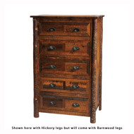 FLB12031-P Barnwood Five Drawer Chest