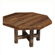 FLB15030-AT Barnwood Octagon Dining Table with Artisan Top