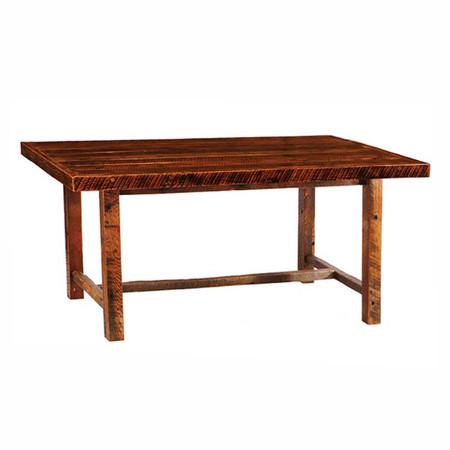 FLB15110-AT Barnwood Farmhouse Dining Table with Artisan Top