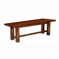 FLB16010-AT Barnwood Dining Bench with Artisan Top