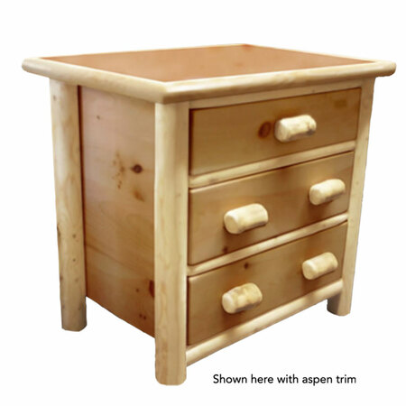 GT4001 GoodTimber 3 Drawer Log Dresser