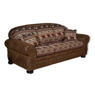 IF1054 Wind River Bear Patterned Sofa