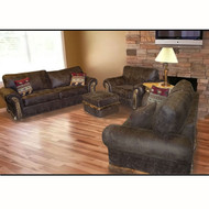 MF2213SET Rustic Faux Leather Couch Set