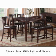 P2329 Square Counter Height Dining Set with Leaf