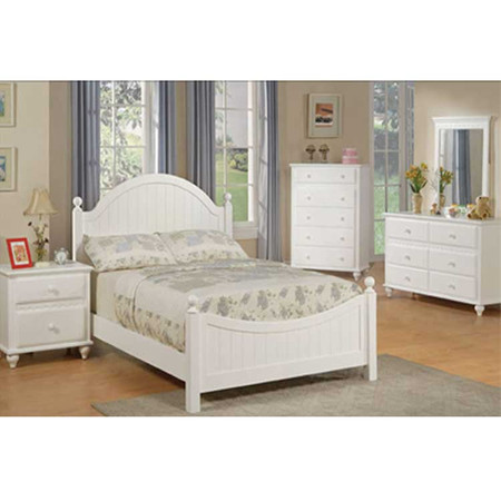 P9033F Full Size White Country Bedroom Set