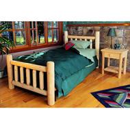 RN38 Cedar Log Bed