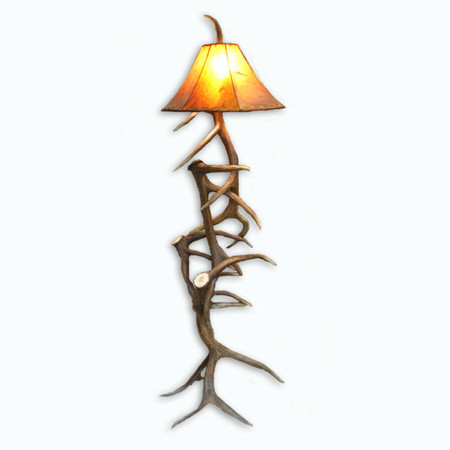 Great WH6104 Real Elk Antler Floor Lamp