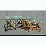 WH6113 Real Elk Antler Coffee Table