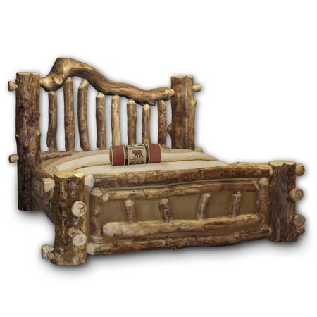 1105 Majestic Rustic Aspen Log Bed