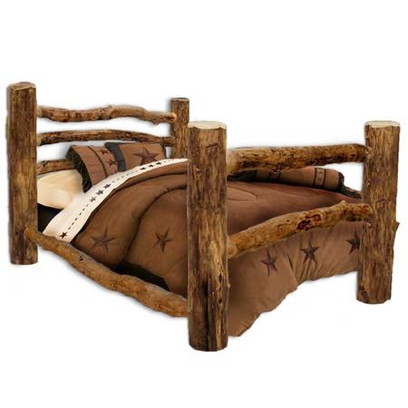 Corral Rustic Log Bed