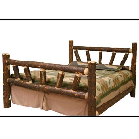 1208SB Bark On Lodge Pole Pine Log Bed