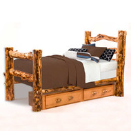 1209 Rustic Underbed Trundle Drawers