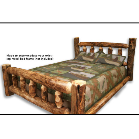 Rustic Furniture Log Bed Cabin Style