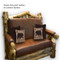 2204 Rustic Loveseat with Cushions