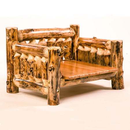 Rustic Furniture Log Dog Bed