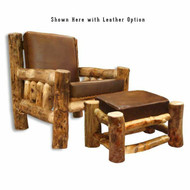 2228 Rustic Aspen Lounge Chair With Cushion