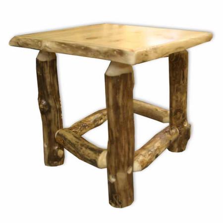 3204 Rustic Log Corner End Table/Nightstands