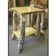 3210 Rustic Log End Table/Nightstand/TV Stand